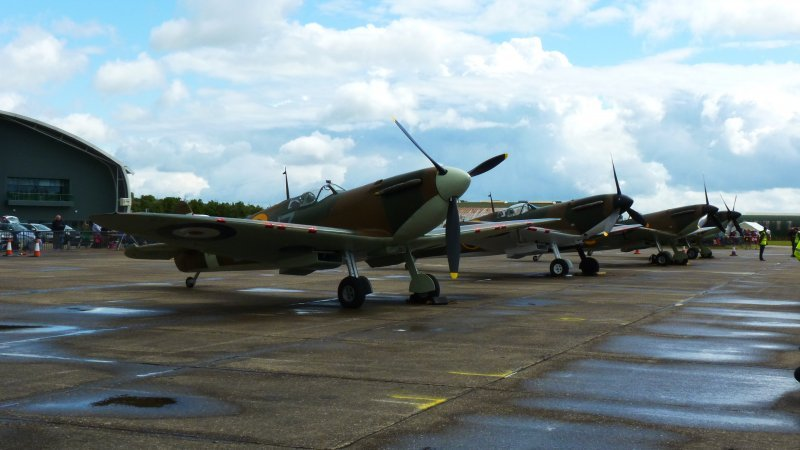 Spitfires on 2012 Duxford flight line